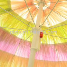 Patio Garden Multicolour Sun Umbrella, Folding Tilting Parasol