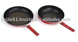 Diamond coated non-stick fry pan