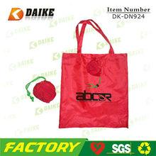 Polyester Cheap High Quality reusable folding rose shopping bag DK-DN924