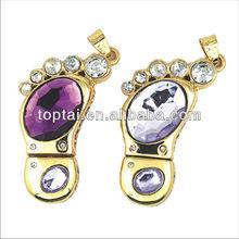 elegant Customized Design16G Crystal Golden Shining Webkey Laser Printing Logo Bulk Order usb 2.0 driver