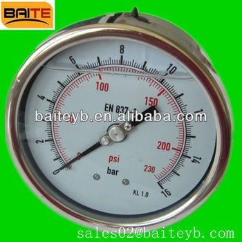 Bourdon tube manometer