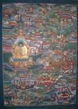 High Quality Buddha Life Story Tibetan Thangka Handmade in Nepal