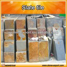 Rusty slate flooring tiles,China natural slate,cheap slate