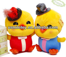 christmas couple duck plush toy funny doll