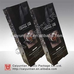 Square bottom vertical coffee plastic packaging bag/coffee packaging bag/plastic packaging bag for green tea,coffee,sugar