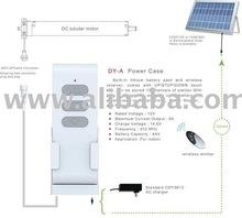 Roller shutters DC tubular motor, solar panel energy