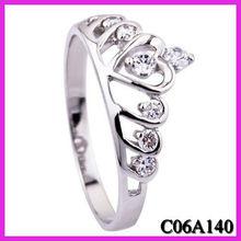 female jewelry diamond ring,princess jewelry crown ring