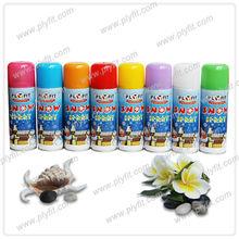 colored aerosol snow spray