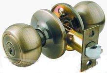 Tubular knob lock