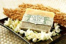 Living Skin Jasmine Loofah Soap Bar