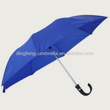 Promotional popular curve handle folding umbrella