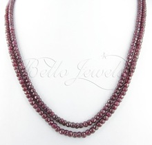 Natural Africa Ruby Beads Handcrafted Necklace- Bello Jewels - PayPal