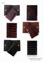 Men Crocodile fold-over card case