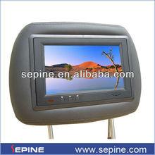 7'' kafalık montaj LCD Ekran Araç reklamcılığı Oto Koltuğu TV
