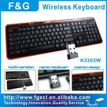 silent wireless keyboard with FCC ID