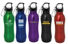 Wide mouth sports water bottle made by stainless steel