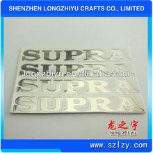 Silver plated logo decoration camera metal sticker custom cheap metallic sticker with 3M adhesive