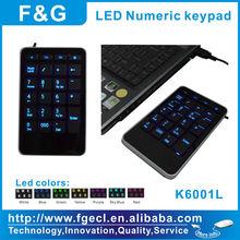 illuminated laptop computer numeric keypad