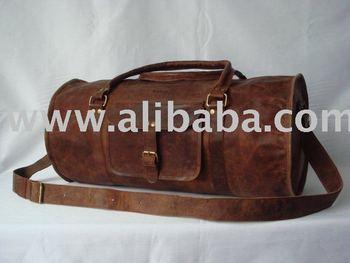 Handmade Leather Duffle Luggage Overnight Travel Bag