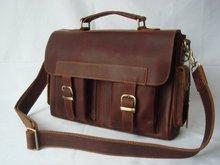 Leather Briefcase Messenger Bag Laptop Case Satchel