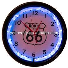 glowing plasma neon clock/neon wall clock