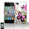 Butterflies design water sticker phone cover case for iphone4/5,2 in 1 water sticker phone case