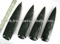 Black Jasper Indian Spear points