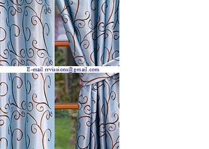 Embroidery Lace Curtain Fabric-Embroidery Lace Curtain Fabric