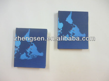 Glabal map printed stationery small pocket notebook