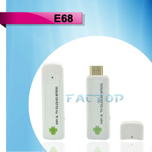 Telechips TCC8925 1GHz 1080P HD android 4.0 smart tv dongle E68
