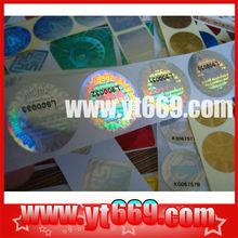 serial number silver round 3d hologram label printer