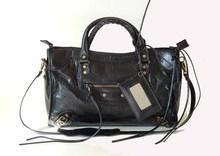 Des Louis Motorcycle Medium Black Leather Handbag