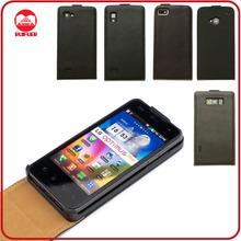 Black Genuine Slim Leather Flip Case Cover for LG Optimus 2X P990 Samsung SONY NOKIA Blackberry iPhone