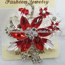 2014 Hot Sale High Quality Elegant flower Crystal rhinestone Brooches BR22