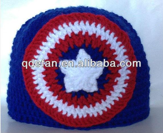 Capitán américa de la gorrita tejida del sombrero-Sombreros y ...