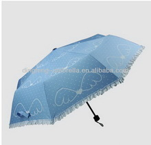 Hot sale popular tote bag and 3 fold umbrella