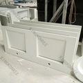 Kkr lavabo en marbre artificiel/blanc, évier de lavage/bassin salle de bains cabinet