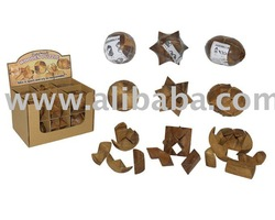 Wooden puzzle in display box