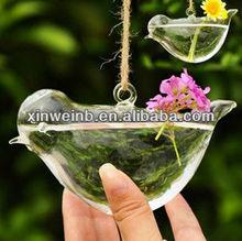 decorar su casa de aves de cristal florero