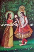 Painting of Krishna and Radha