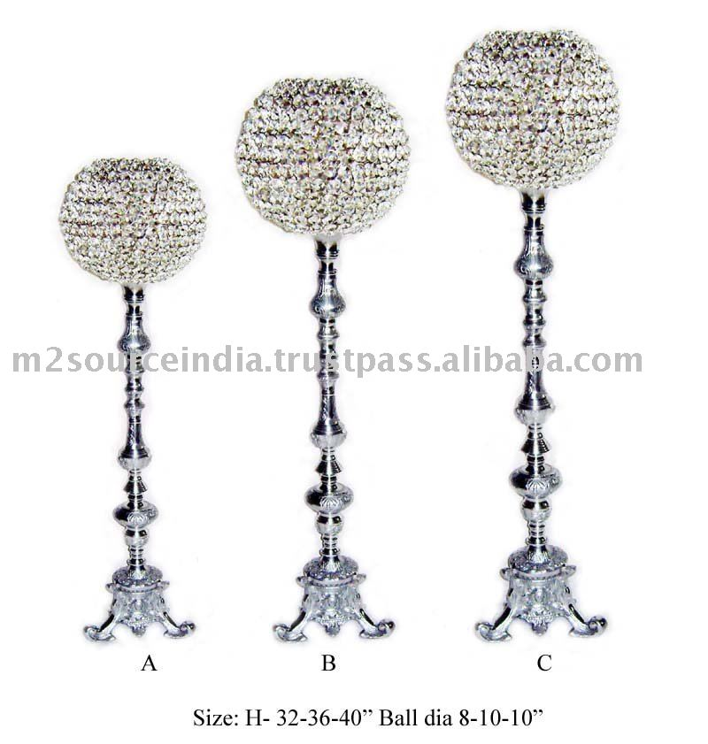 centerpiece with crystal ball attachment decorative orbject party decor