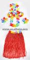la hierba de hawai falda hula flor lei guirnalda pulsera de fantasía traje de vestir cc187