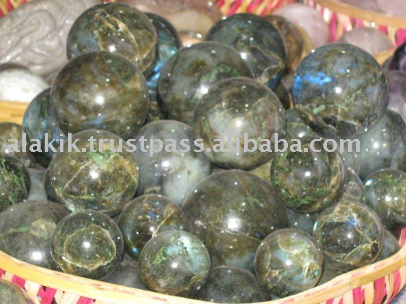 Venta al por mayor de la labradorita esfera y de la bola : de la piedra preciosa de esferas