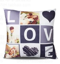 colour thermal sublimation printing i love you pillow