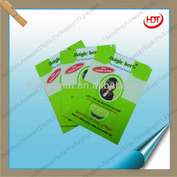 magic herb chemical medicine for hair use plastic packaging bag