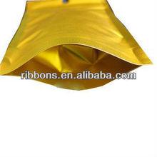 Bright deep orange color zipper document bag 0.5g-1g net weight packaging aluminum f