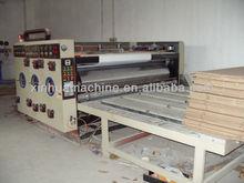 High speed flexo printer slotter rotary die cutter & stacker