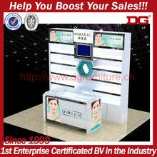 modern wholesale 5 tiers cosmetic acrylic countertop display rack/acrylic display stand/acrylic