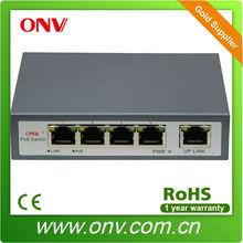 metal case 802.3af 10/100M 4 port PoE switches