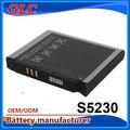 para samsung s5230 s5233 s5230c bateria do telefone celular